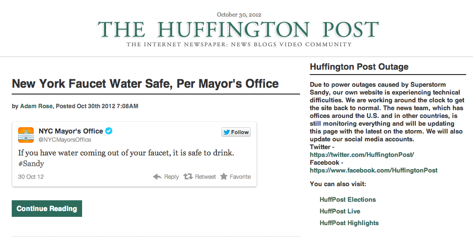 Huffington-post-down-30th-october