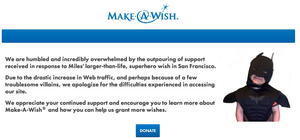 Make-a-wish-foundation-site-offline