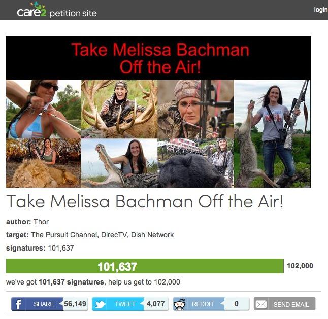 Melissa-bachman-tv-petition