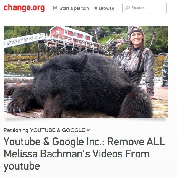 Melissa-bachman-youtube-petition