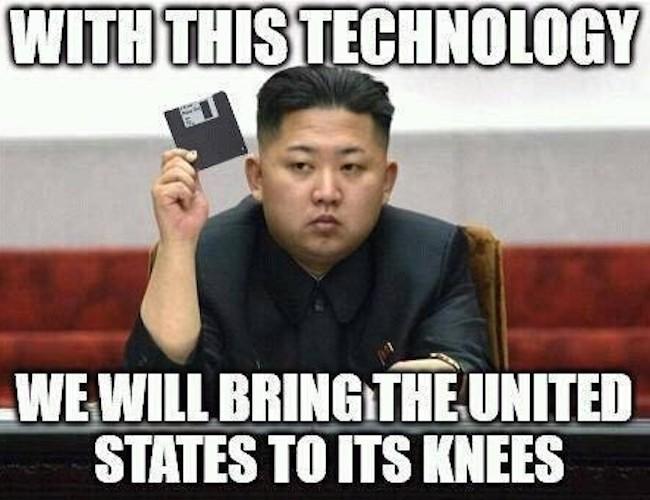 Kim Jong Un floppy disk