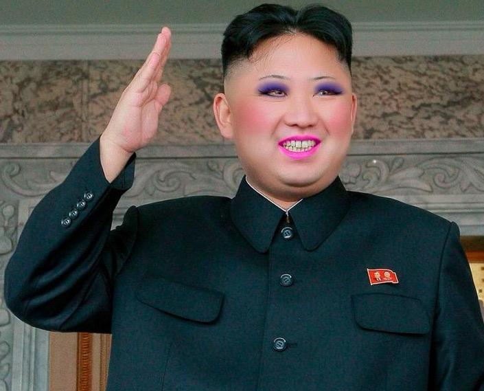 Kim Jong Un lipstick
