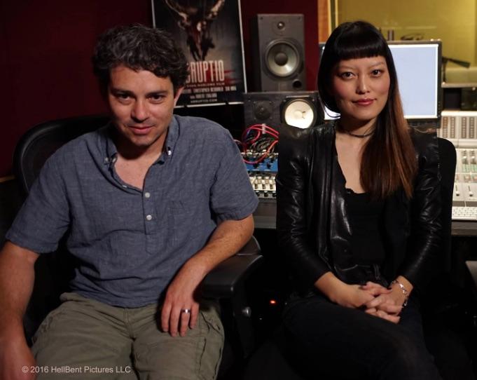 Director Evan Marlowe and Hana Mae Lee © HellBent Pictures LLC