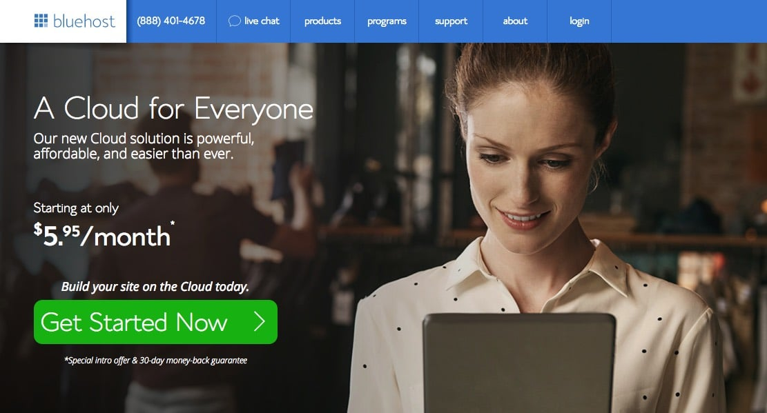 bluehost-web-hosting-cloud-for-film-sites