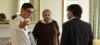 Director Nicholas Eriksson with actors John Rhys-Davies and Richard Kovacs - Photo: Sofia Miedzianowska