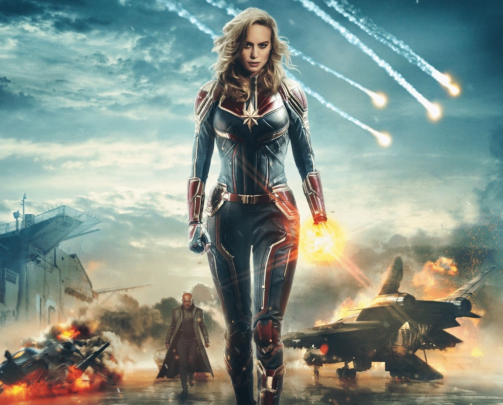 Captain Marvel, Marvel's first female-fronted superhero movie, conquers weekend box office