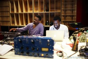 © Jen Maler (Kanye West and Tony Williams in the studio)
